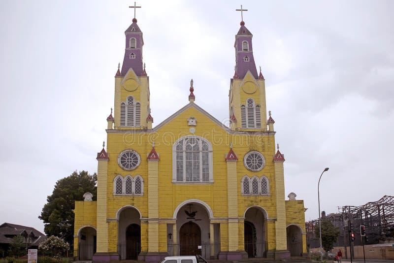 Église de San Francisco, Castro, Chili photographie stock