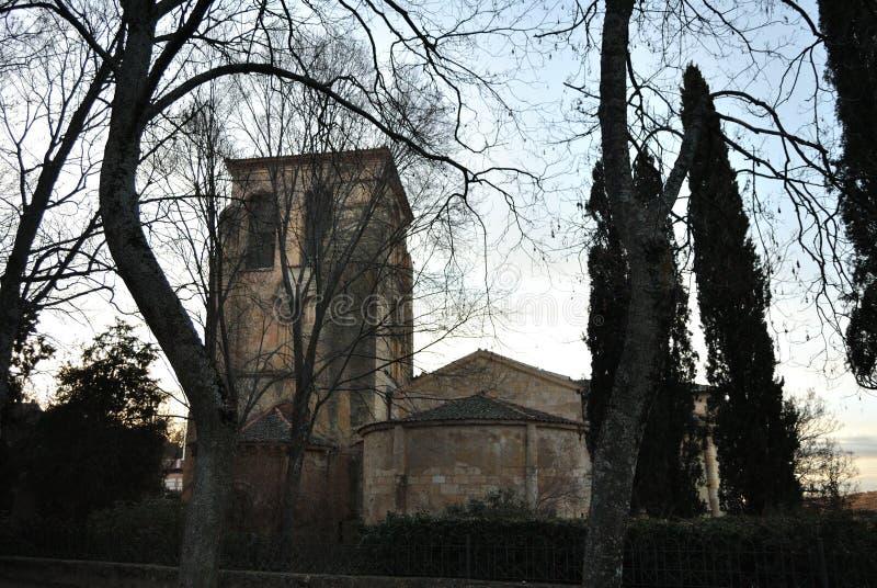 Église de San Juan de los Caballeros, Ségovie images libres de droits