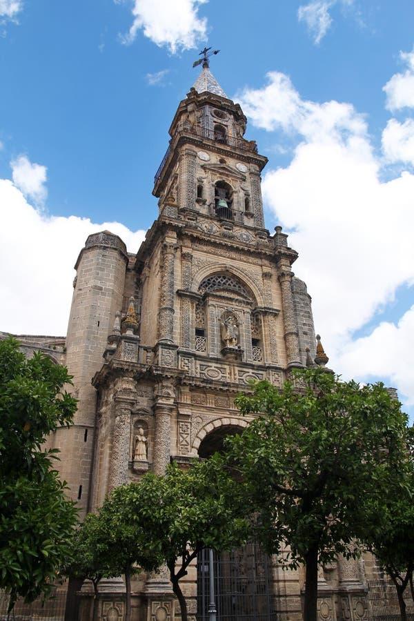 Église de San Miguel à Jerez de la Frontera, Espagne images libres de droits