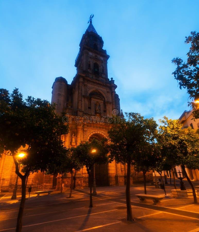 Église de San Miguel La Frontera de Jerez De images stock