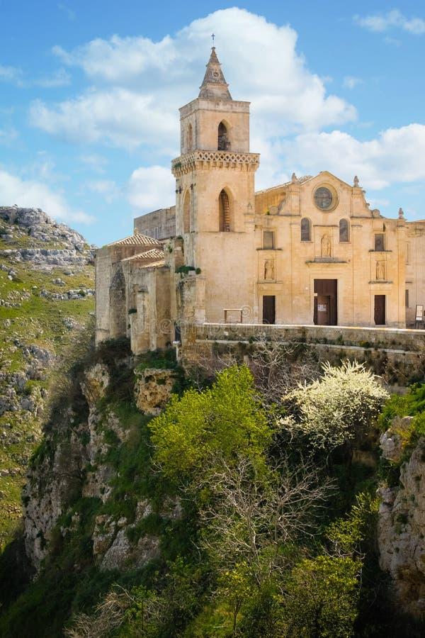 Église de San Pietro Caveoso Matera Basilicate Pouilles l'Italie images stock