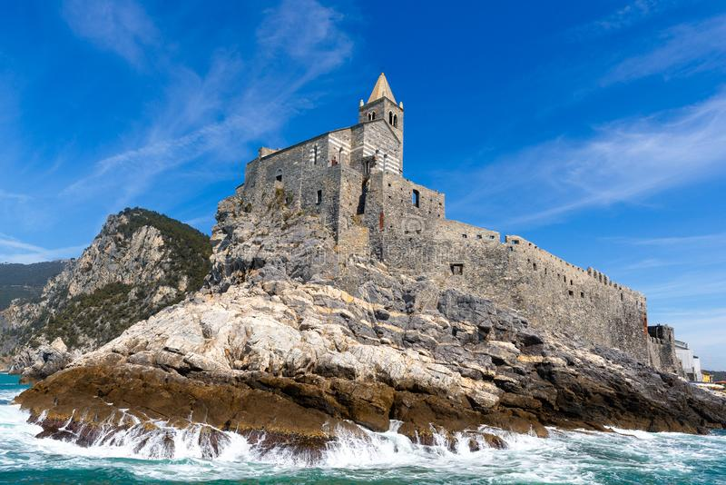 Église de San Pietro, Portovenere, Italie photo stock
