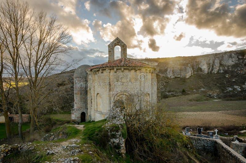 ?glise de Santa Cecilia de Vallespinoso Palencia photo stock