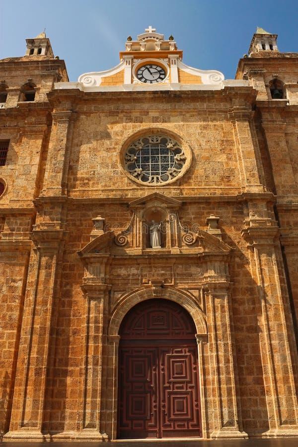 Église de Santa Clara à Carthagène image stock