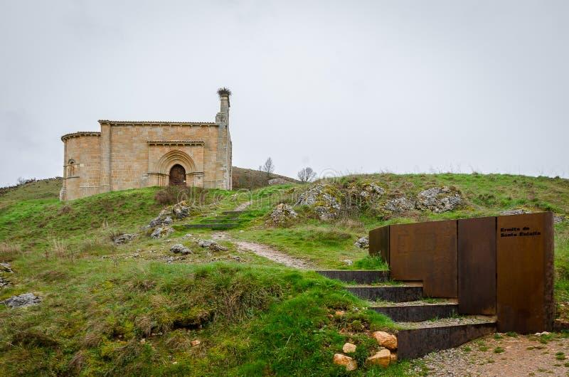 ?glise de Santa Eulalia en banlieue De Santa Maria Palencia photo stock