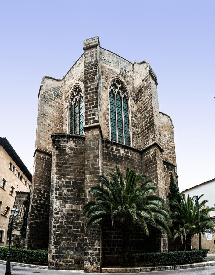 Église de Santa Margarita, Palma, Majorca, Espagne images libres de droits