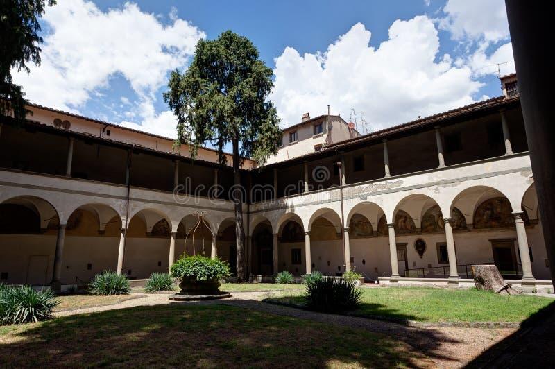Église de Santa Maria del Carmine de cour, Florence, Firenze, Toscany, Italie photographie stock libre de droits