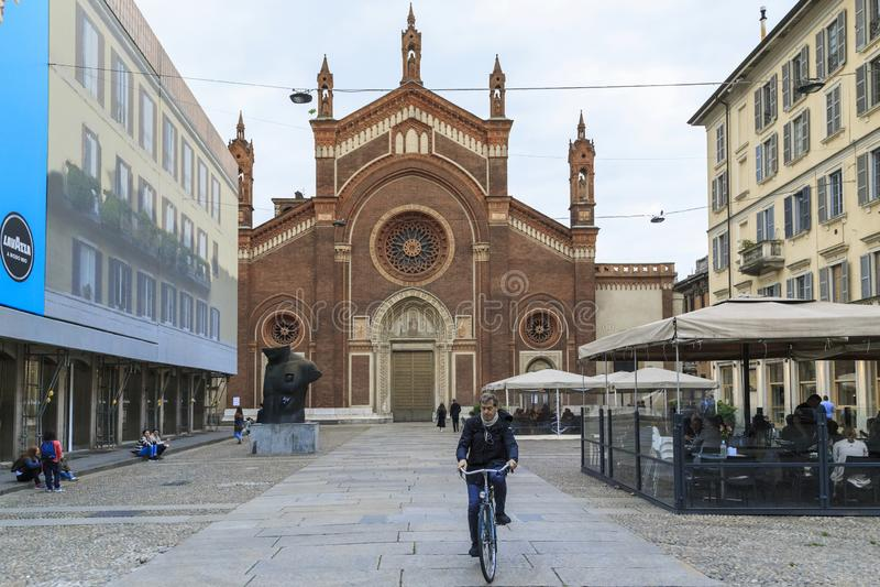 Église de Santa Maria del Carmine, Milan images stock