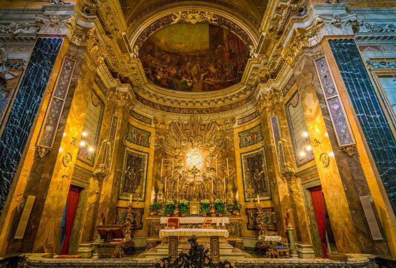 Église de Santa Maria della Vittoria à Rome, Italie image stock