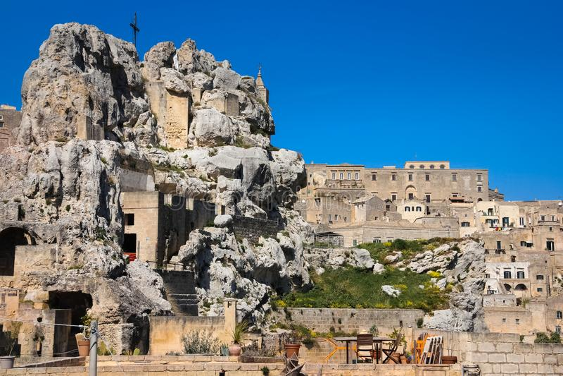 Église de Santa Maria di Idris Matera Basilicate Pouilles ou la Puglia l'Italie images stock