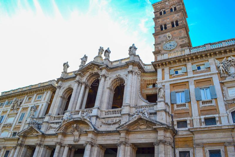 Église de Santa Maria Maggiore de Di de basilique de Santa Maria Maggiore photographie stock