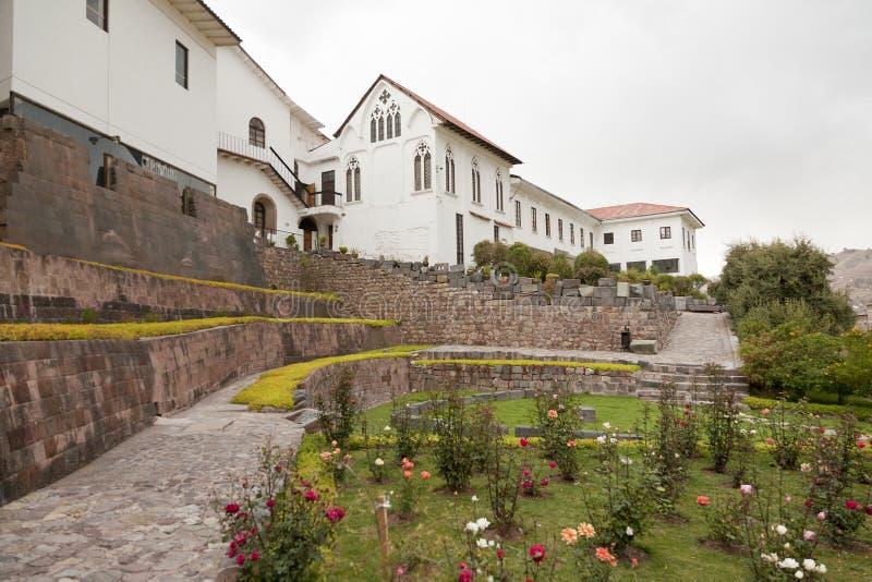 Église de Santo Domingo et de temple de Coricancha images libres de droits