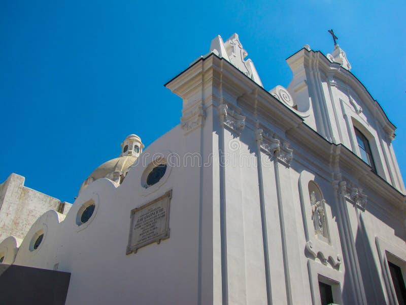Église de Santo Stefano dans Capri, Italie image stock
