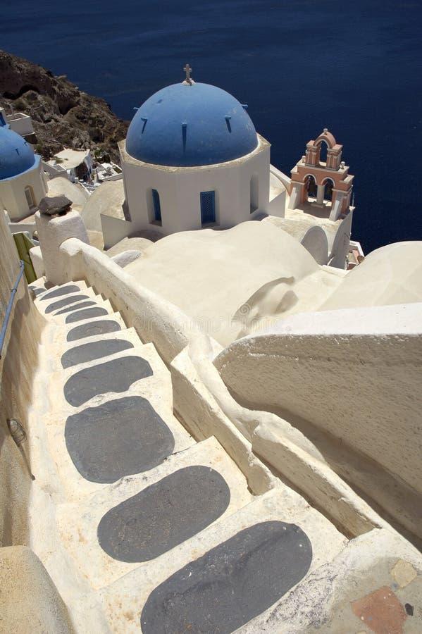 Église de Santorini images stock