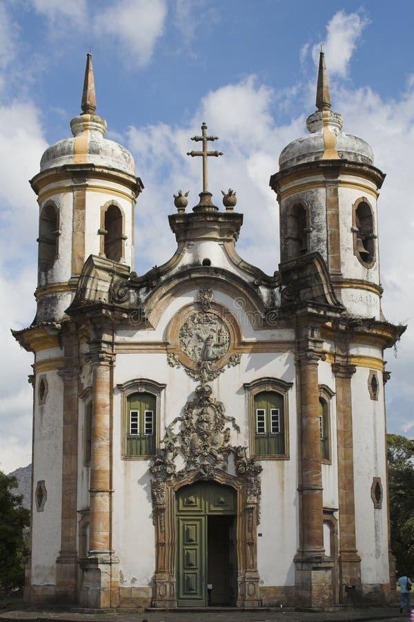 Download Église De Sao Francisco De Assis Ouro Preto Photo stock - Image du cloches, rues: 742338