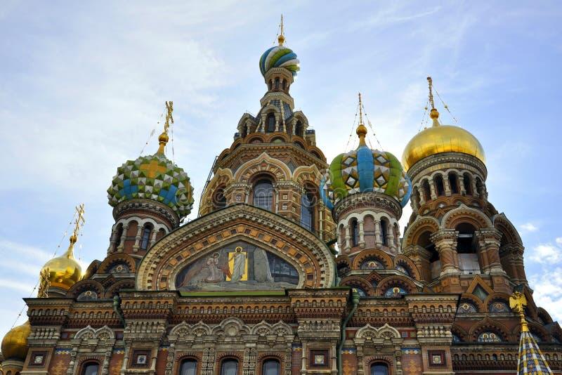 Église De Sauveur Sur Le Sang Renversé, St Petersburg Photo stock