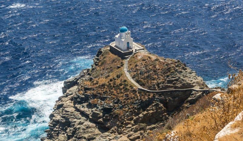 Église de sept martyres, Sifnos photos stock