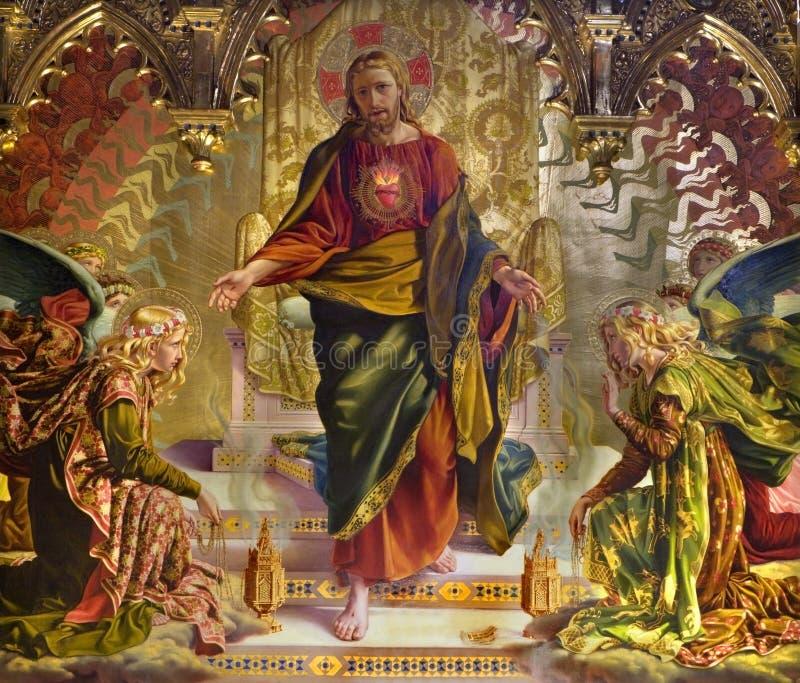 Église de Sienne de forme de Jésus-Christ photographie stock libre de droits