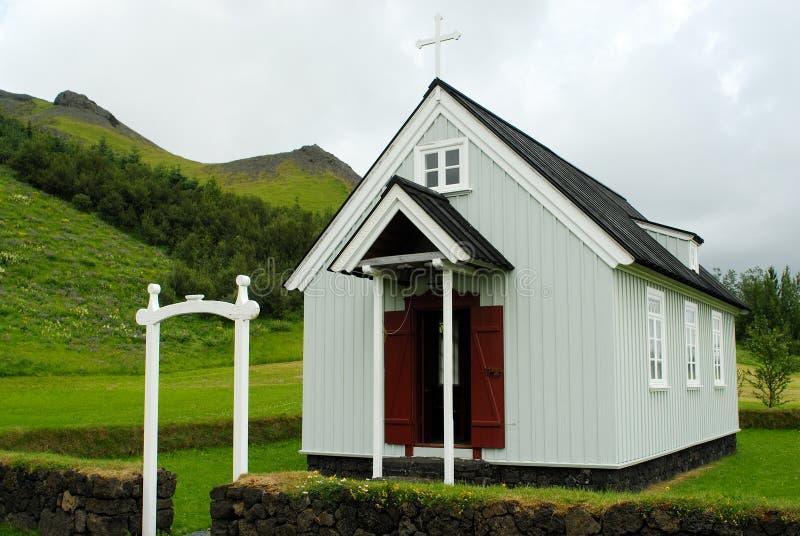 Église de Skogar, Islande photos stock