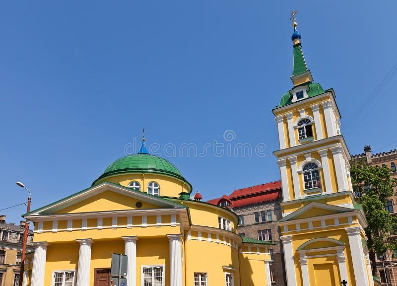 Église de St Alexander Nevsky (1825) à Riga, Lettonie images libres de droits