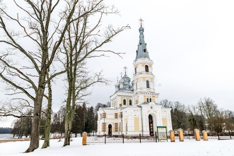 Église de St Alexander Nevsky dans Stameriena, Lettonie image libre de droits