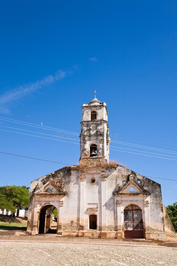 Église de St Anna, Trinidad, Cuba image libre de droits