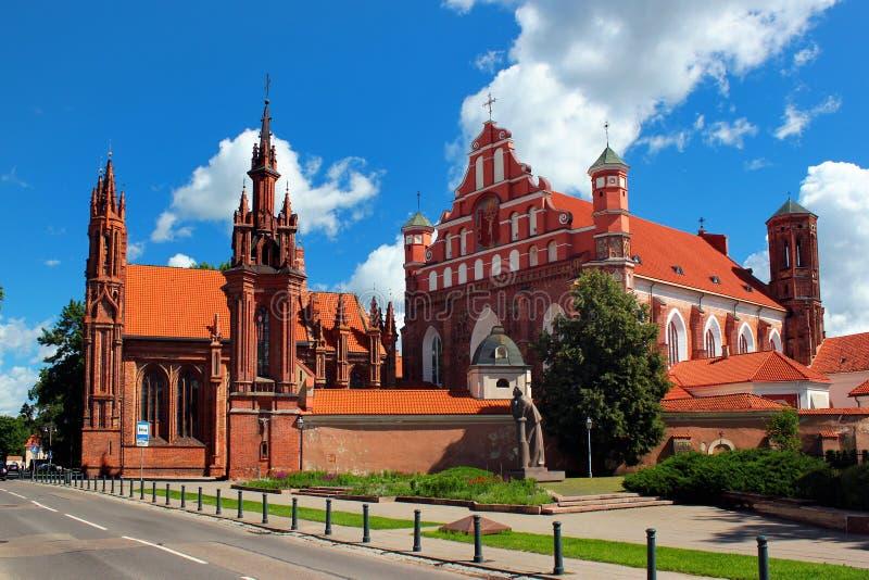 Église de St Anne à Vilnius, Lithuanie images libres de droits