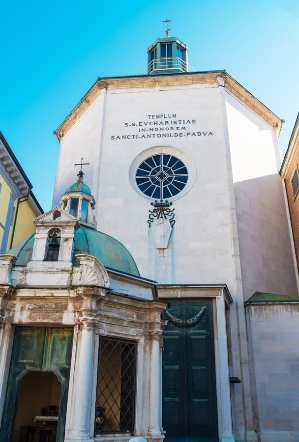 Église de St Antonio di Padova Paolotti à Rimini, Italie photos stock
