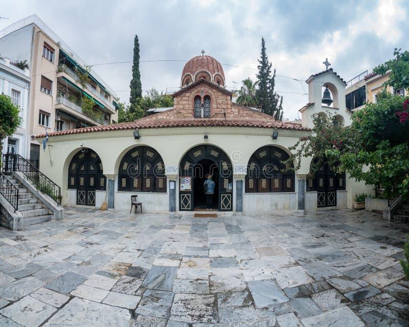 Église de St Catherine Greek Orthodox à Athènes image stock