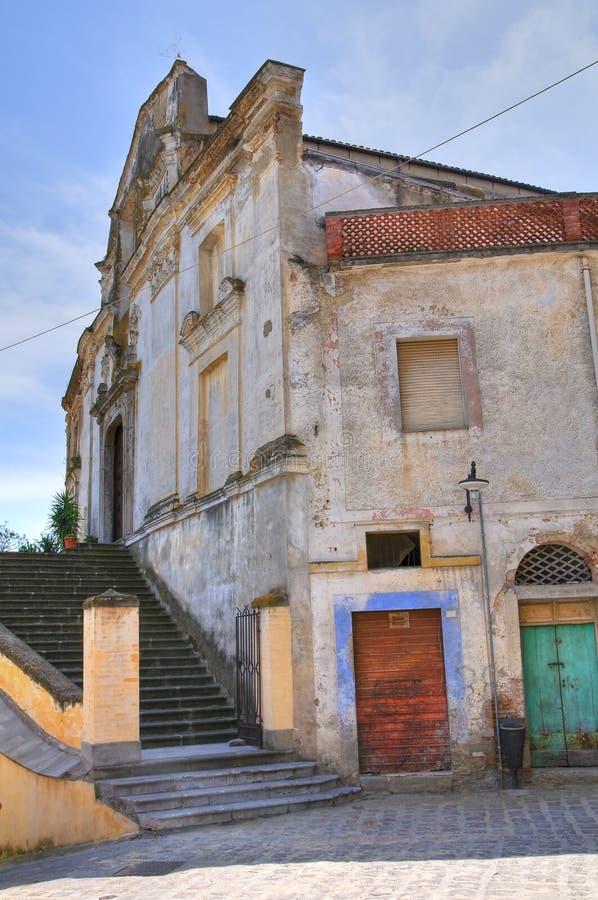 Église de St Filippo Neri. Tursi. Basilicate. L'Italie. image libre de droits