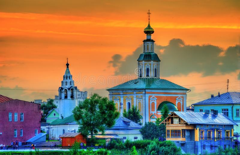 Église de St George dans la ville de Vladimir, Russie image libre de droits