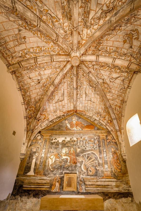 Église de St George dans Ledantes près de Santander, Espagne photos stock