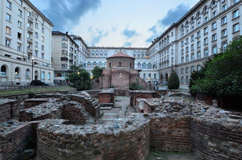 Église de St George Rotunda à Sofia photos libres de droits