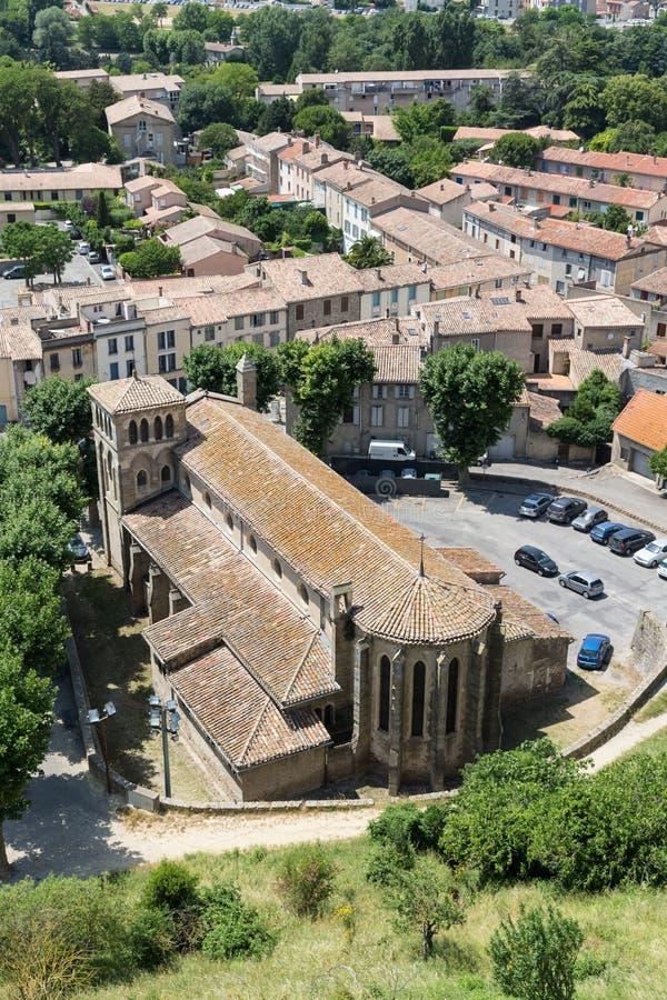 Église de St Gimer à Carcassonne photographie stock