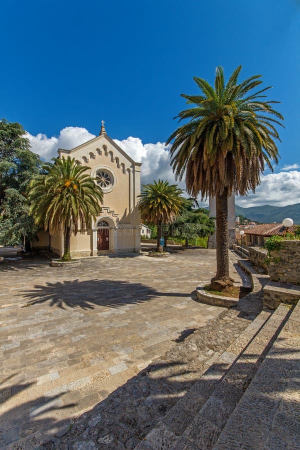 Église de St Jerome dans la vieille ville de Herceg Novi, Monténégro image libre de droits