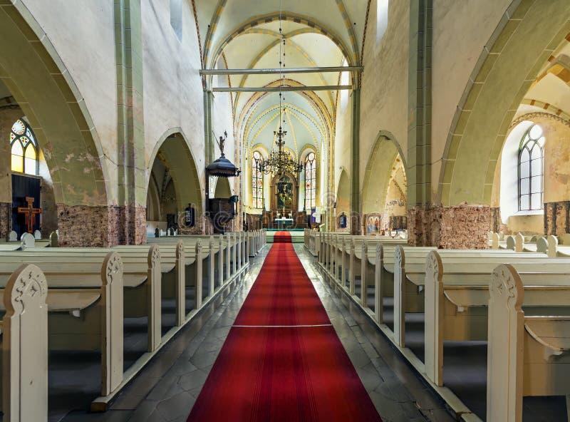 Église de St John dans Cesis images libres de droits