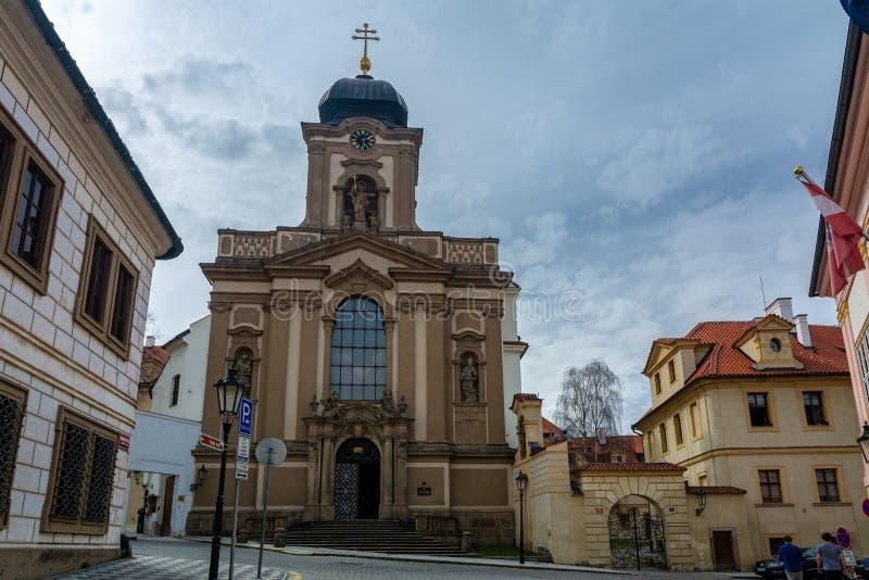 Église de St John de Nepomuk à Prague photo libre de droits