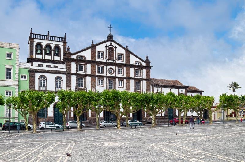 Église de St Joseph dans la ville de Ponta Delgada, île de Miguel de sao, A images libres de droits