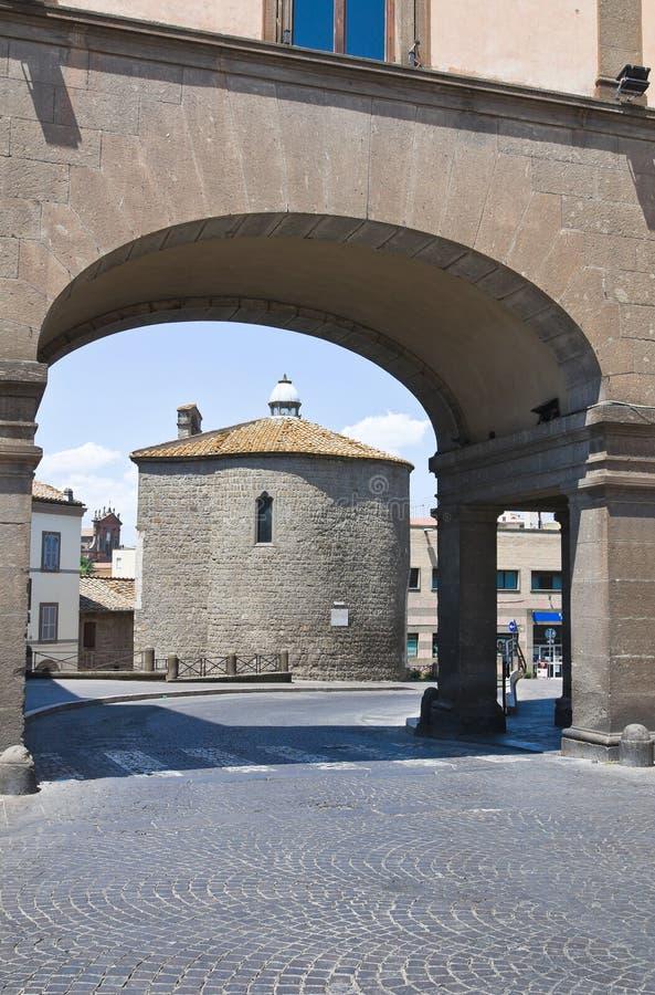Église de St Maria della Salute. Viterbe. Le Latium. L'Italie. photos stock