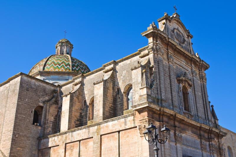 Église de St Maria di Costantinopoli. Manduria. La Puglia. L'Italie. photographie stock