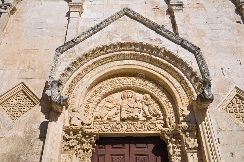 Église de St Maria Maggiore. Monte Sant ' Angelo. La Puglia. L'Italie. image stock