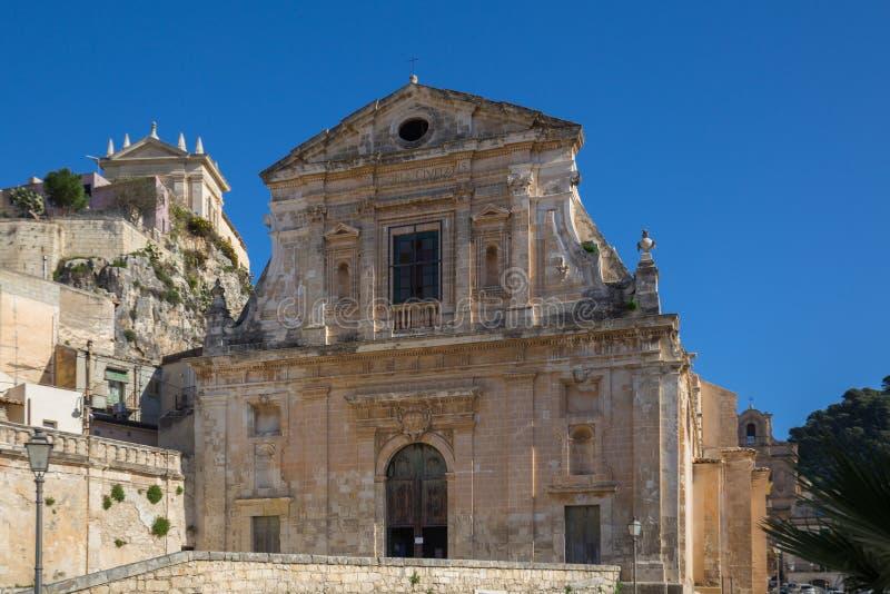 Église de St Mary de consolation dans Scicli photos libres de droits