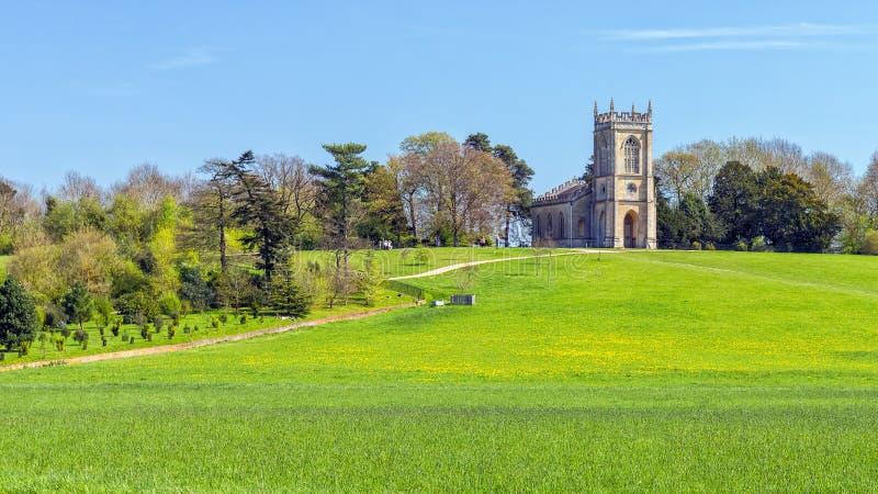 Église de St Mary Magdalene, parc de Croome, Worcestershire images libres de droits