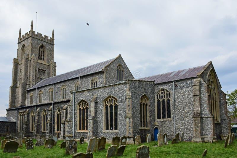 Église de St Mary North Elmham, Norfolk, R-U images libres de droits