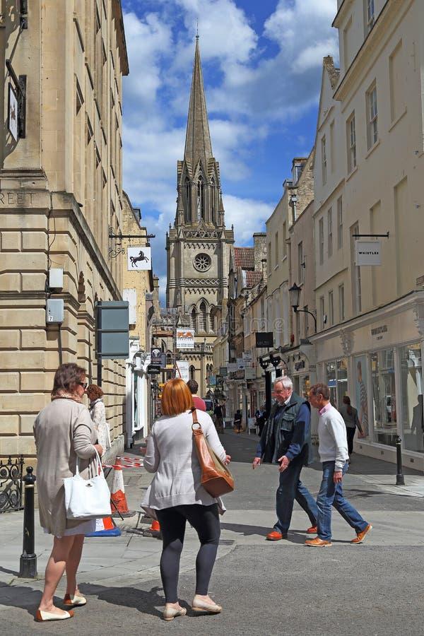 Église de St Michael, Bath, R-U photographie stock