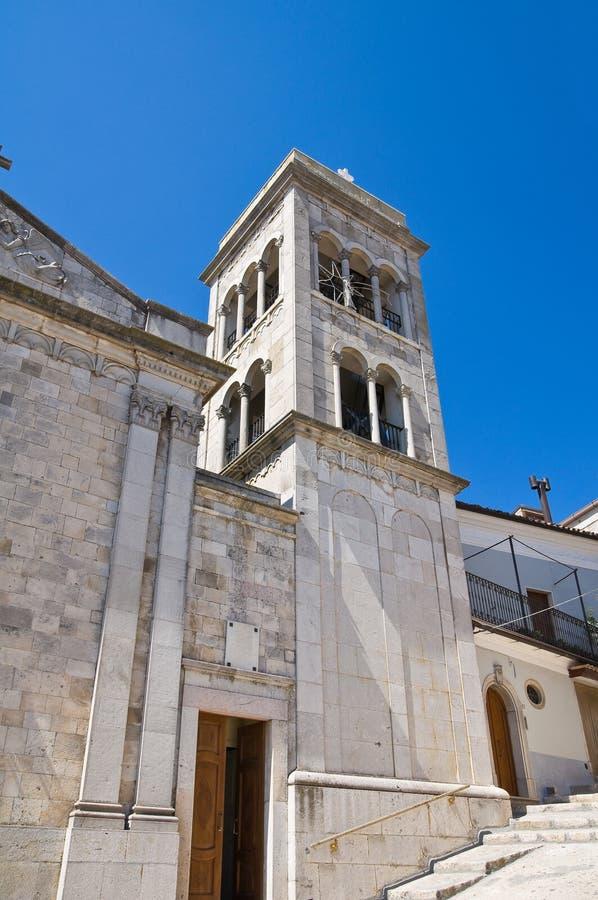 Église de St Michele. Sant'Agata di Puglia. La Puglia. L'Italie. photo stock