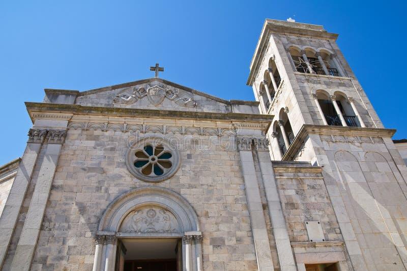 Église de St Michele. Sant'Agata di Puglia. La Puglia. L'Italie. image stock