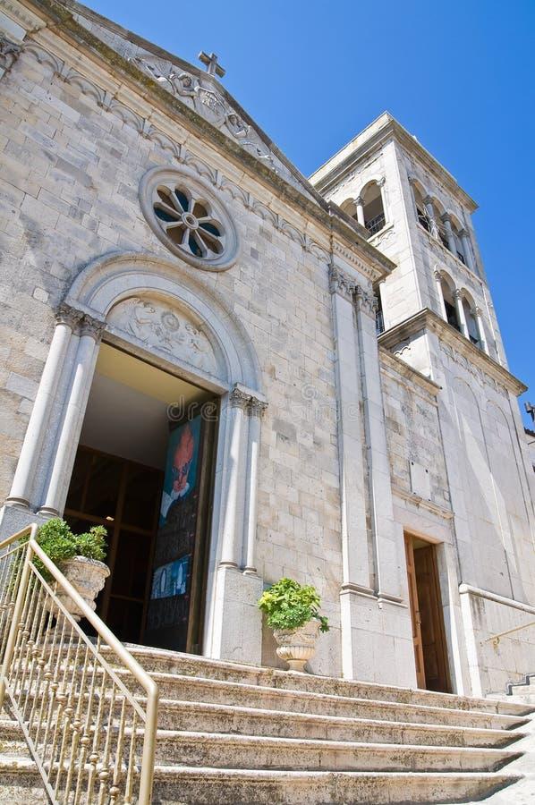 Église de St Michele. Sant'Agata di Puglia. La Puglia. L'Italie. photos stock