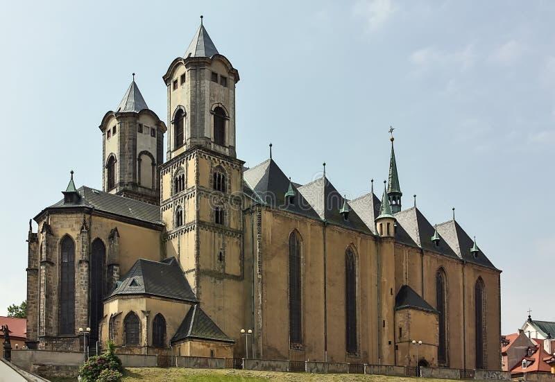 Église de St Nicolas, Cheb, République Tchèque photographie stock libre de droits
