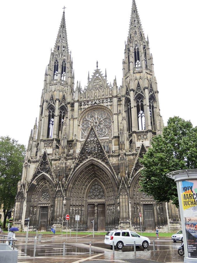 Église de St Ouen dans la ville de Rouen, France photo stock